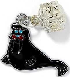 4pc Charm Walrus Black BD2102