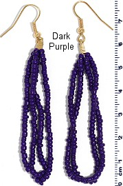 Seed Beads Earring Purple EB103