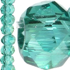 200pc 2mm Crystal Bead Spacer Teal JF1219