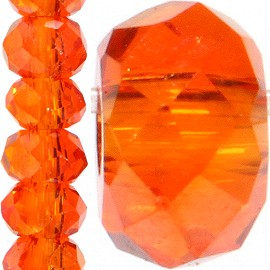 200pc 2mm Crystal Bead Spacer Orange JF1229