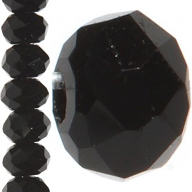 200pc 2mm Crystal Bead Spacer Black JF1232