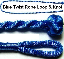 "50pcs-pk 17"" Cord Twisted Knot Loop Blue NK166"