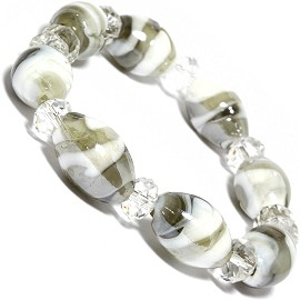 10mm Wide Stretch Crystal Bracelet Multi Color AB SBR370